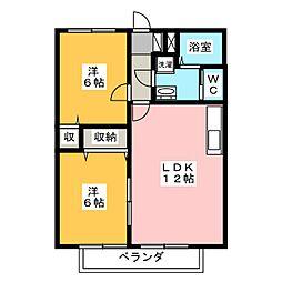 メゾンすなみ C棟[2階]の間取り