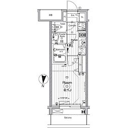 名古屋市営名城線 矢場町駅 徒歩9分の賃貸マンション 11階1Kの間取り