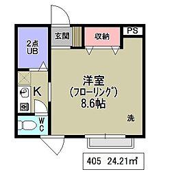 埼玉県さいたま市浦和区東仲町の賃貸アパートの間取り