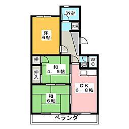 マンション北浜[2階]の間取り
