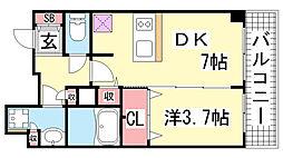 プレサンスジェネ新神戸ステーションフロント[9階]の間取り
