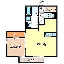 ロジュマン デラッセ[2階]の間取り