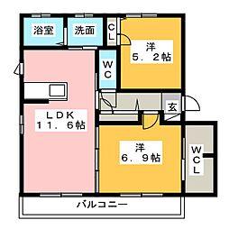 I's garden[1階]の間取り