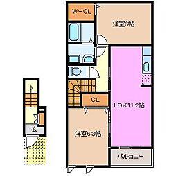 メゾンオーブ D棟[2階]の間取り