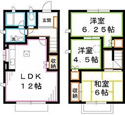 [テラスハウス] 東京都立川市栄町2丁目 の賃貸【/】の間取り