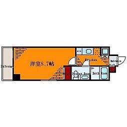ライジングプレイス錦糸町[3階]の間取り