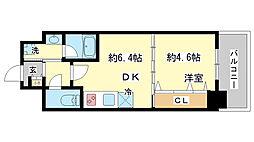 兵庫県神戸市兵庫区浜崎通2丁目の賃貸マンションの間取り