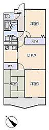 愛知県岡崎市小呂町字2丁目の賃貸マンションの間取り