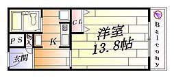 セントラルハイツ津雲台[2階]の間取り