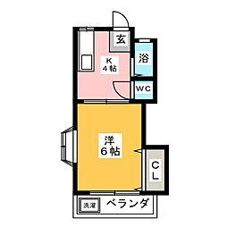 コーポ神の倉[2階]の間取り