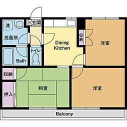 庭司苑5番館[2階]の間取り