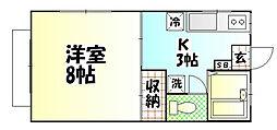 今井ハイツE[2階]の間取り
