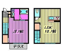 [テラスハウス] 埼玉県川口市桜町1丁目 の賃貸【/】の間取り