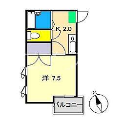 ピュアセントハウス[3階]の間取り