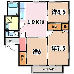 コーポ今井 東棟[2階]の間取り