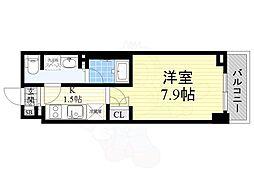 京王線 八幡山駅 徒歩2分の賃貸マンション 3階1Kの間取り