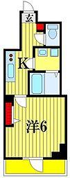 N-stage 松戸 1階1Kの間取り
