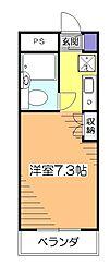 東京都小平市花小金井1丁目の賃貸マンションの間取り