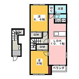フェリーチェ N[2階]の間取り
