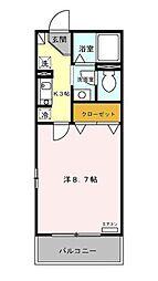 セジュール中井[2階]の間取り