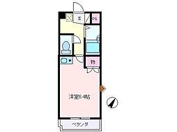 池田マンション[203号室]の間取り