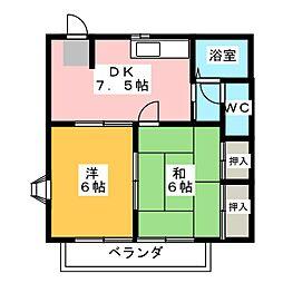木ノ芽館I.II[1階]の間取り