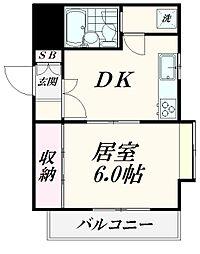 東京都大田区上池台5丁目の賃貸マンションの間取り