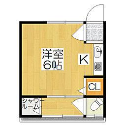 カトレアハウス[22号室]の間取り