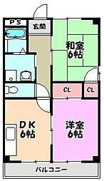 メゾン松浦[4階]の間取り
