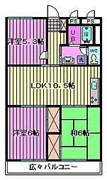第二武笠ビル[3階]の間取り