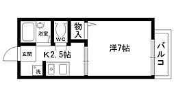太田ハイツ 北棟[201号室]の間取り