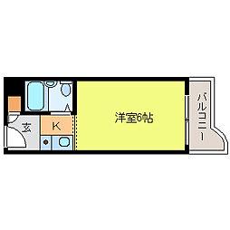 クレアコート魚崎[1号室]の間取り