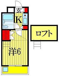 千葉県船橋市前原西4丁目の賃貸アパートの間取り