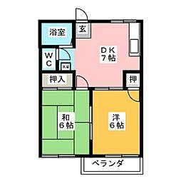 メゾン浅野A[2階]の間取り