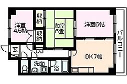 兵庫県伊丹市梅ノ木4丁目の賃貸マンションの間取り