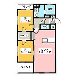 インテグラD[4階]の間取り
