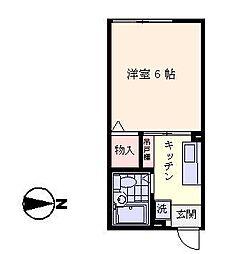 神奈川県横浜市金沢区釜利谷東2丁目の賃貸アパートの間取り