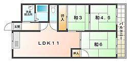 若草第1マンション[5階]の間取り