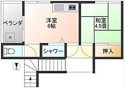荏原7丁目アパート[201号室]の間取り