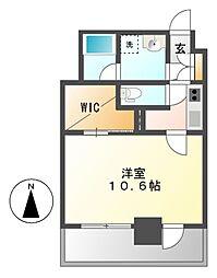 レジデンスSUN.K[6階]の間取り