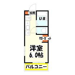 ポルト・ボヌール竹ノ塚[301号室]の間取り