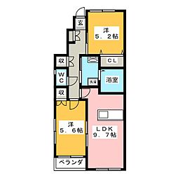ARVITA SOUTH[1階]の間取り