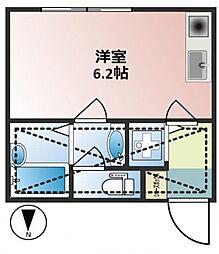 HIT ROOM 上池袋[2階]の間取り