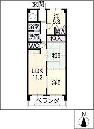 ノーブル・ライフB棟[4階]の間取り