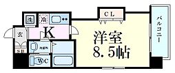 Luxe江坂II 3階1Kの間取り