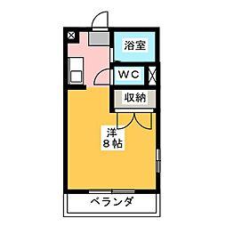 パレス菊川[1階]の間取り
