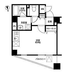 プレール・ドゥーク上野NORTH[705号室]の間取り
