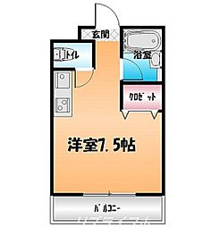 エクセレントスズラン1[1階]の間取り