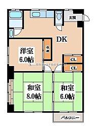 第二塚本コーポラス[4階]の間取り