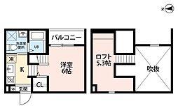 アペラシオン鳥羽見(アペラシオントリバミ)[2階]の間取り